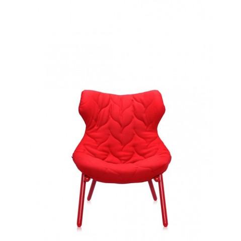 Fauteuil FOLIAGE de Kartell, Rouge, Structure rouge