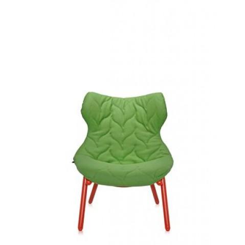 Fauteuil FOLIAGE de Kartell, Vert, Structure rouge