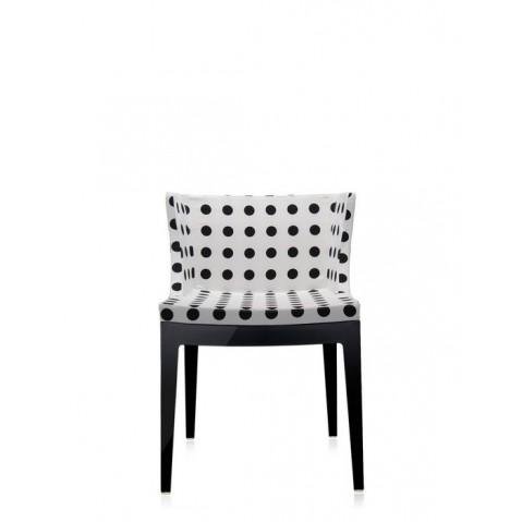 Fauteuil Mademoiselle de Kartell, Pattern blanc, Structure noire