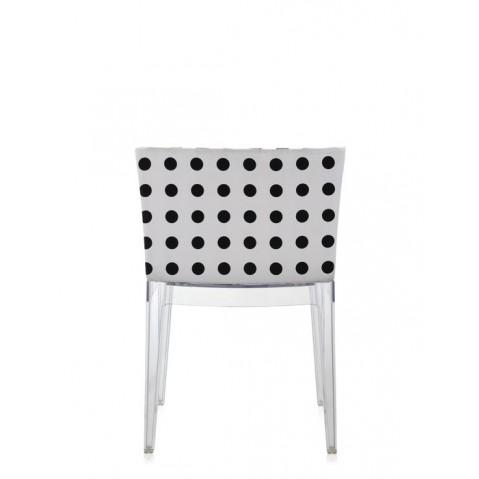 Fauteuil Mademoiselle de Kartell, Pattern blanc, Structure transparente
