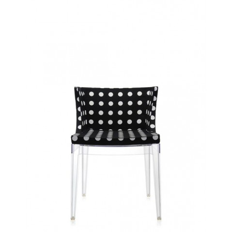 Fauteuil Mademoiselle de Kartell, Pattern noir, Structure transparente