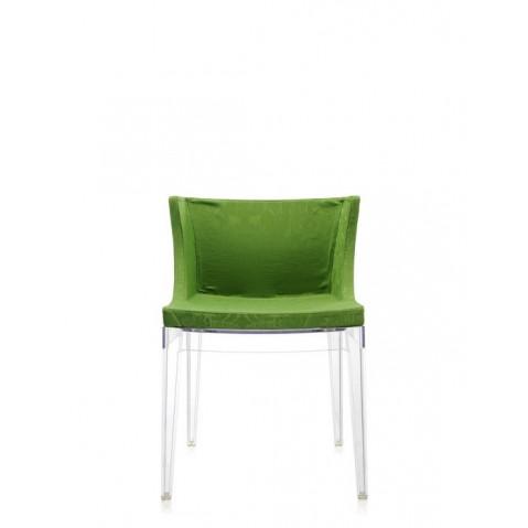 Fauteuil Mademoiselle de Kartell, Vert, Structure transparente