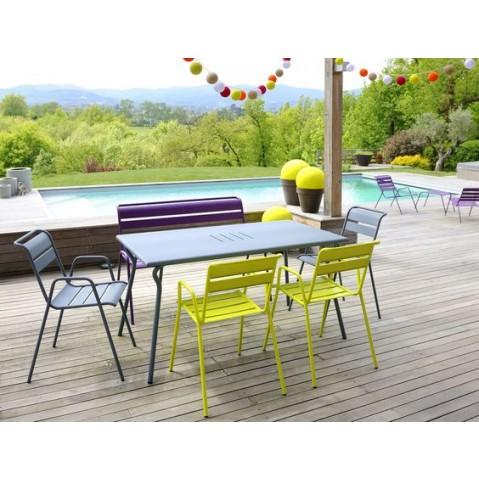 fauteuil monceau de fermob gris orage. Black Bedroom Furniture Sets. Home Design Ideas