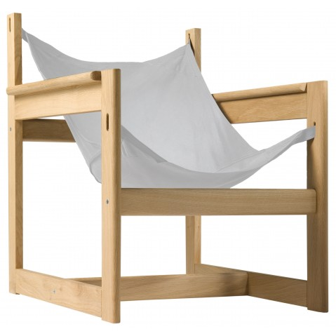 Fauteuil PELICANO de Objekto, Ecru, Structure en chêne
