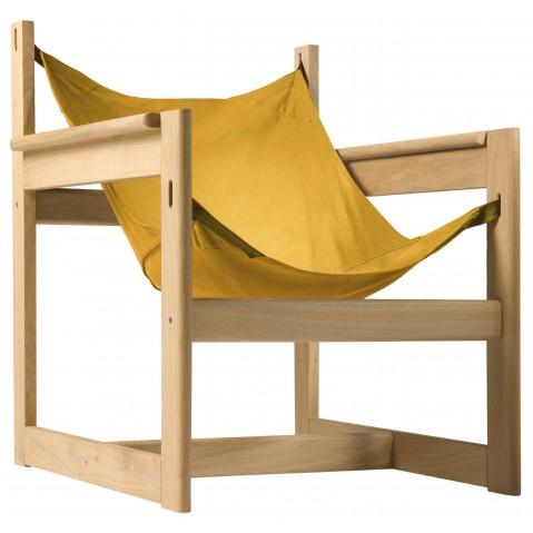 Fauteuil PELICANO de Objekto, Or, Structure en chêne