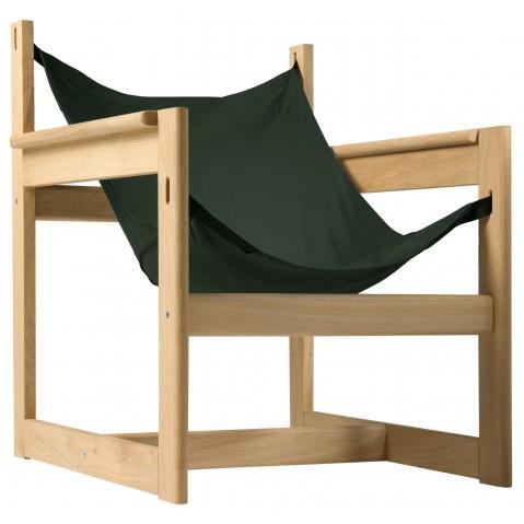 Fauteuil PELICANO de Objekto, Vert, Structure en chêne