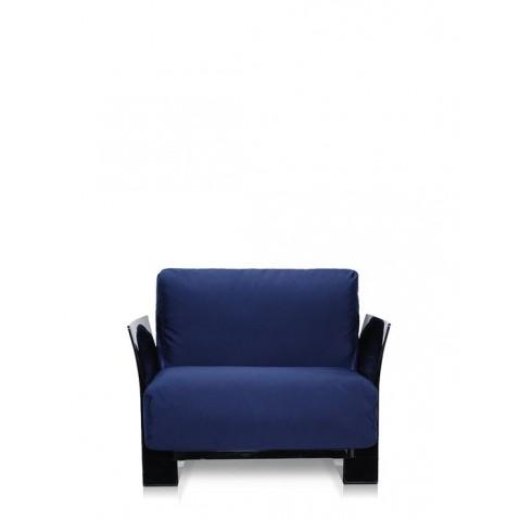 Fauteuil POP OUTDOOR de Kartell, Bleu, Structure noir
