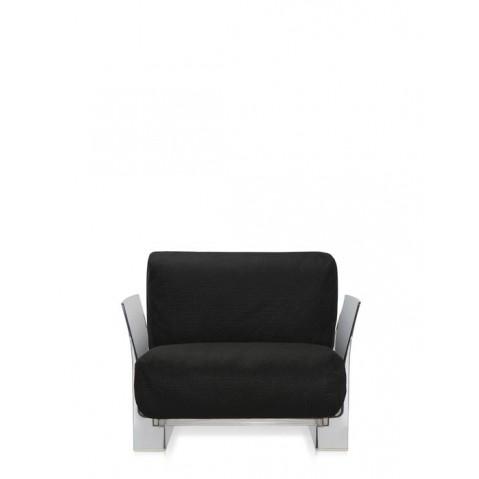 Fauteuil POP OUTDOOR de Kartell, Noir, Structure transparente