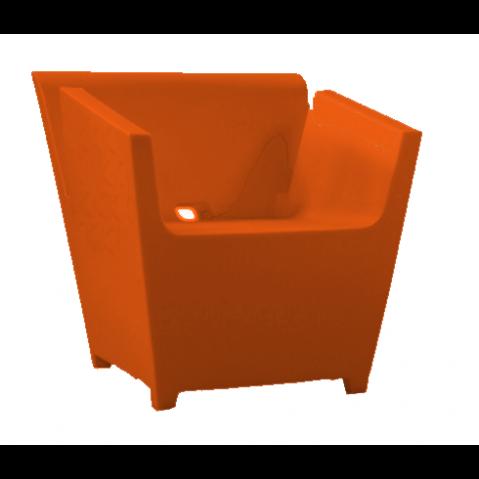 Fauteuil RAFFY-M9 Qui est Paul Orange Coussin Gris