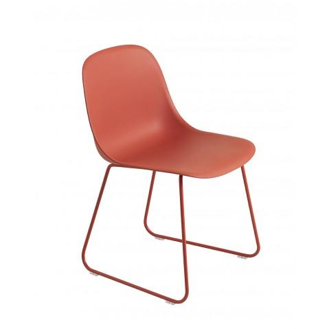 Chaise FIBER SIDE de Muuto, Sled base, 6 coloris