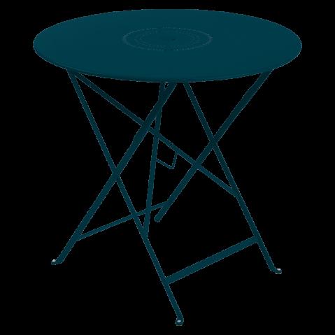 Table pliante FLORÉAL de Fermob D.77 cm, Bleu acapulco