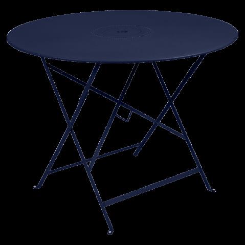 Table pliante FLORÉAL de Fermob D.77 ou D.96 cm, D. 96, Bleu abysse