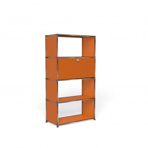 Bibliothèque USM Haller M Avec Porte Orange Pur - Bibliothèque avec porte