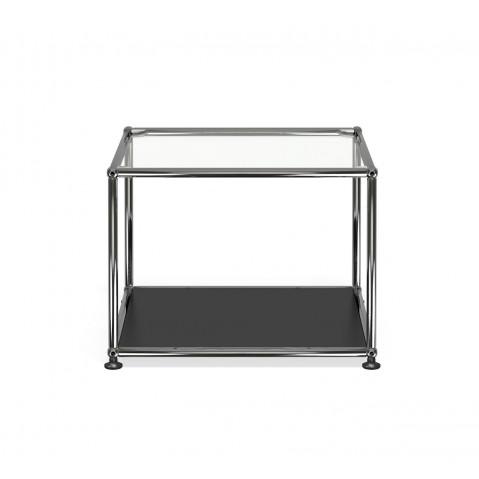 Petite table basse carr e usm haller m17 noir graphite - Petite table basse carree ...