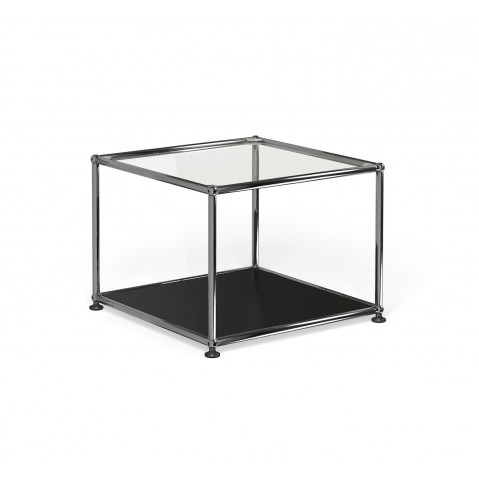 petite table basse carr e usm haller m17 noir graphite. Black Bedroom Furniture Sets. Home Design Ideas