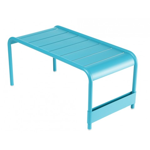 Grande table basse LUXEMBOURG de Fermob bleu turquoise