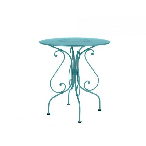 Guéridon 1900 de Fermob bleu turquoise