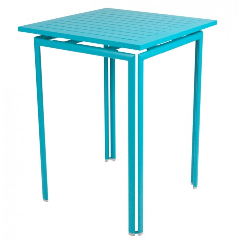 Guéridon haut COSTA de Fermob bleu turquoise
