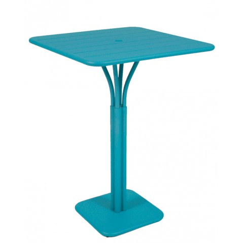 Guéridon haut LUXEMBOURG de Fermob bleu turquoise
