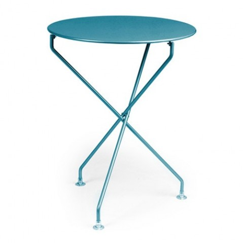 Guéridon TERTIO de Fermob bleu turquoise