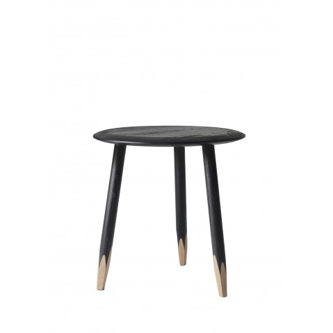 Table basse HOOF de &Tradition , Ø50cm, Black stained