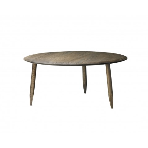 Table basse HOOF de &Tradition , Ø90cm, Smoked oiled