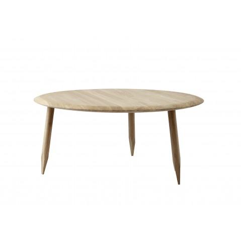 Table basse HOOF de &Tradition , Ø90cm, White oiled