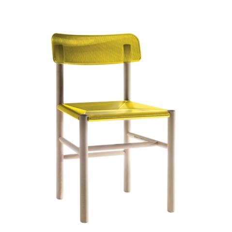 Chaise TRATTORIA de Magis jaune