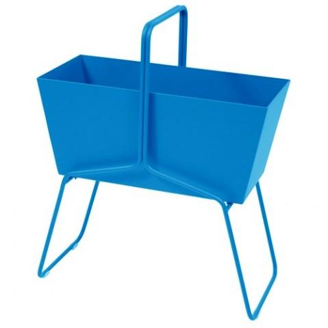 Jardinière BASKET de Fermob, Bleu turquoise