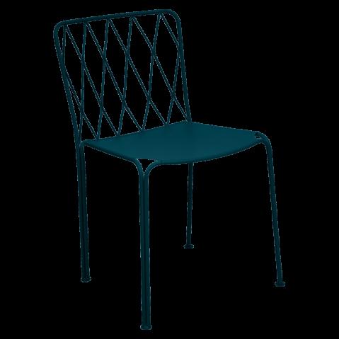 Chaise KINTBURY de Fermob, bleu acapulco