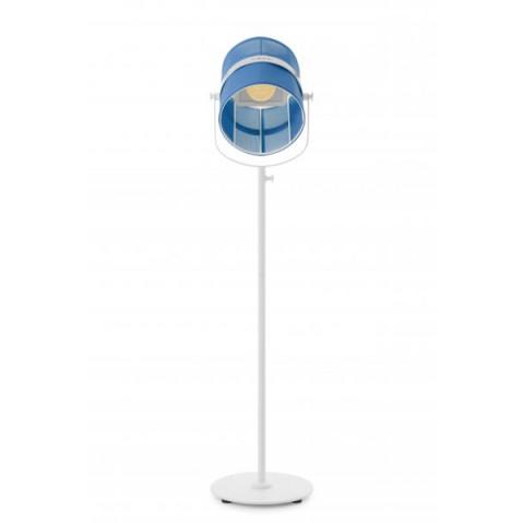 La lampe PARIS de Maiori, Bleu royal Structure Blanc
