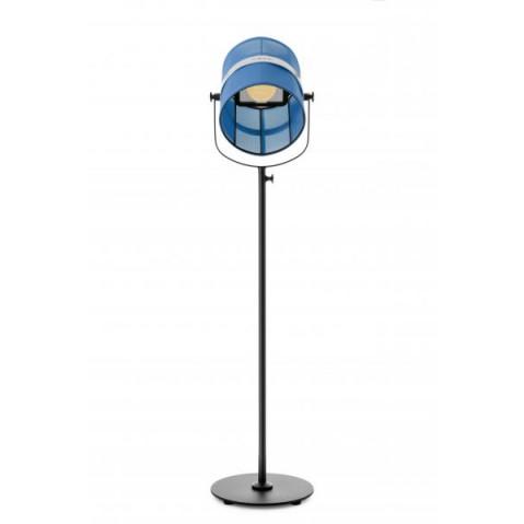 La lampe PARIS  de Maiori, Bleu royal Structure noir