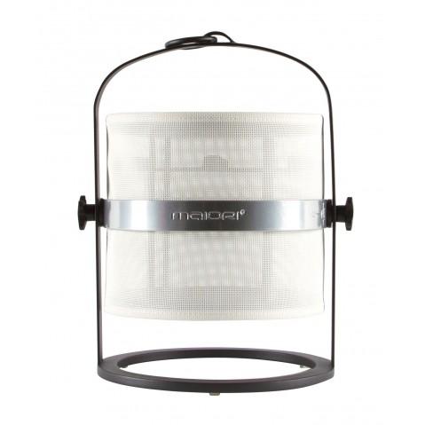 La lampe petite de MAIORI, Blanc Structure noir