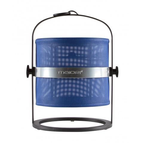 La lampe petite de MAIORI, Bleu marine Structure noir