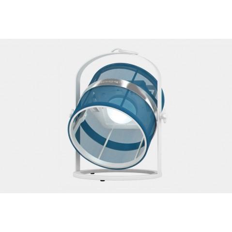 La lampe petite de MAIORI, Bleu royal Structure Blanc