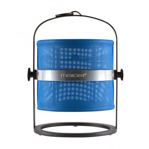 La lampe petite de MAIORI, Bleu royal Structure noir