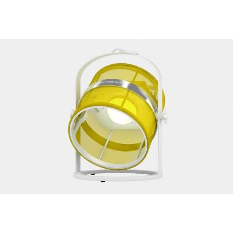 La lampe petite de MAIORI, Citron Structure Blanc