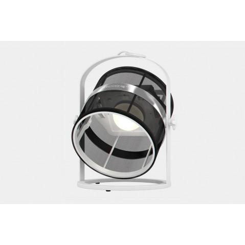 La lampe petite de MAIORI, Noir Structure Blanc