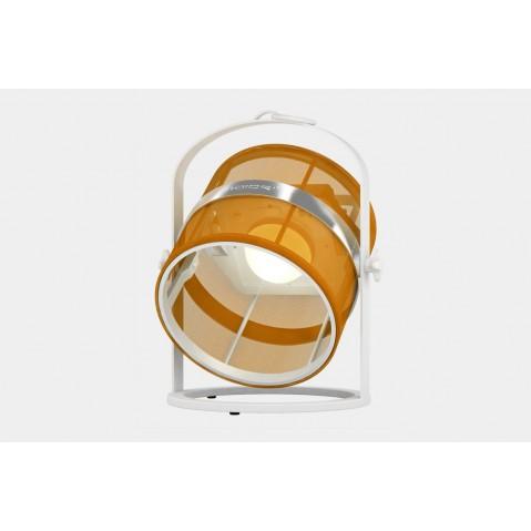 La lampe petite de MAIORI, Orange Structure Blanc