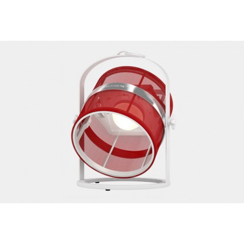 La lampe petite de MAIORI, Rouge Structure Blanc