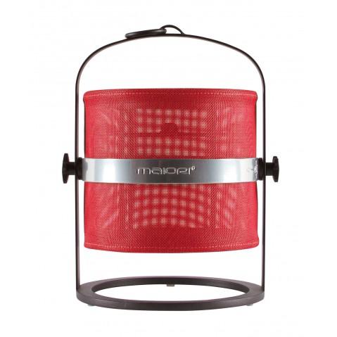 La lampe petite de MAIORI, Rouge Structure noir