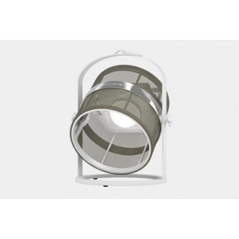 La lampe petite de MAIORI, Taupe Structure Blanc