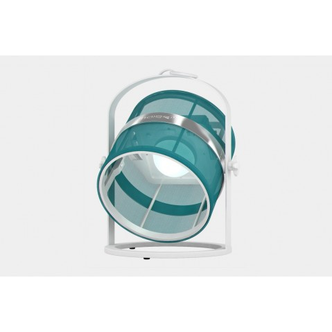 La lampe petite de MAIORI, Turquoise Structure Blanc