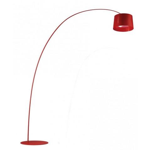 Lampadaire TWIGGY de Foscarini rouge