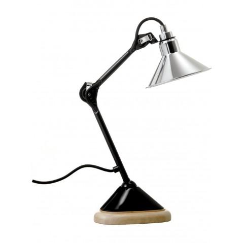 Lampe de bureau GRAS N°207 noir et chrome