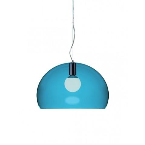 Lampe FL/Y de Kartell, Bleu pétrole