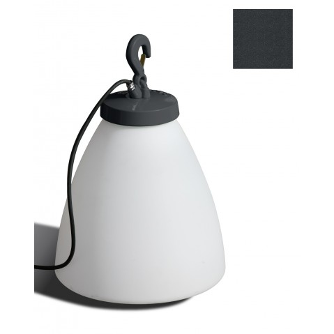 Lampe GRUMO CÔNE bas de Roger Pradier, Gris anthracite