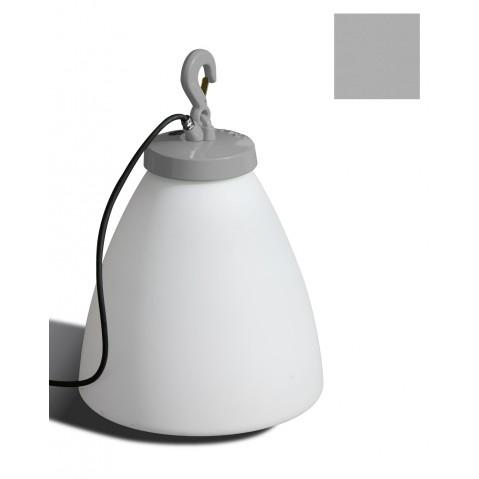 Lampe GRUMO CÔNE bas de Roger Pradier, Gris métal