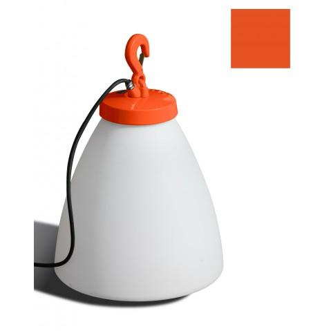 Lampe GRUMO CÔNE bas de Roger Pradier, Orange