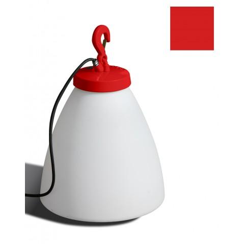 Lampe GRUMO CÔNE bas de Roger Pradier, Rouge